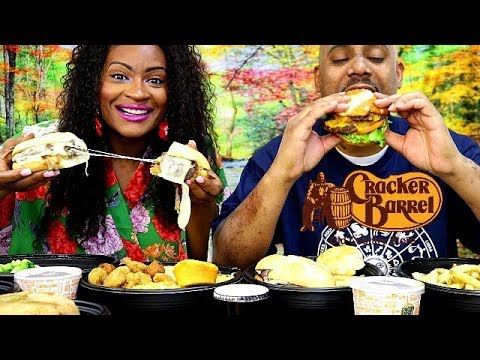 CRACKER BARREL FAVORITES MUKBANG! + NEW FRENCH DIP SANDWICH!