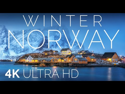 Norway 4K • Winter in Norway • Relaxing Music with AMAZING Beautiful Nature and sound