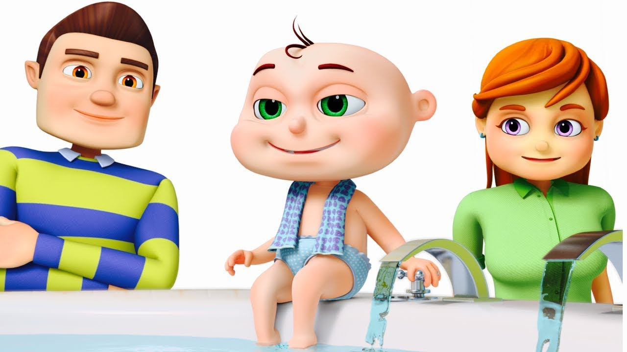 Five Little Babies Bathing In A Tub | Learn Good Habits For Kids ...
