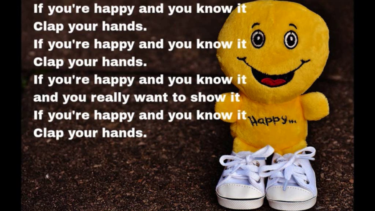 If You Re Happy And You Know It Clap Your Hands Lyrics Song For Children Youtube