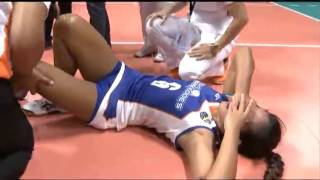 Gervacio tore her ACL and also suffered a displace