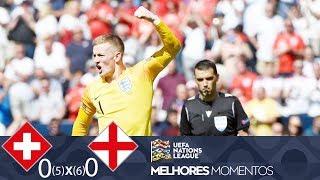 SUÍÇA 0 (5) X (6) 0 INGLATERRA - MELHORES MOMENTOS - UEFA NATIONS LEAGUE (09/06/2019)