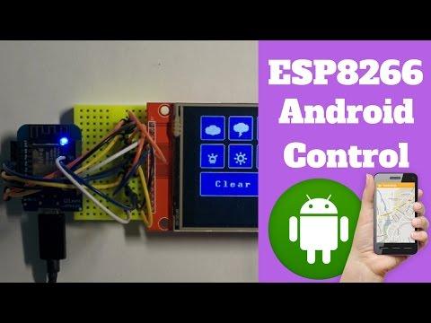 ESP8266 GPIO Control using Android App - MIT APP Inventor