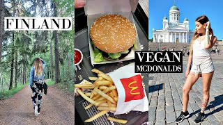 Tasting Vegan Mcdonalds in Finland! // Helsinki Travel Vlog