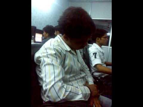 Sleeping Head Dance in office