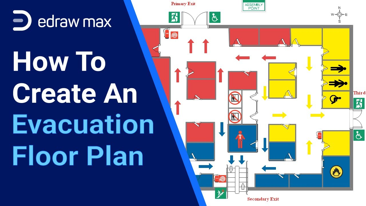 How To Make An Evacuation Floor Plan Edrawmax Youtube