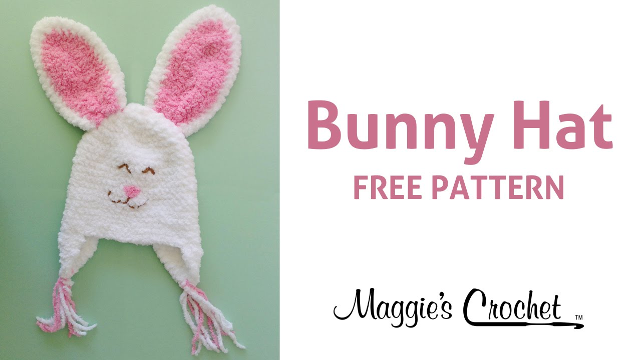 Bunny Hat Free Crochet Pattern - Right Handed - YouTube