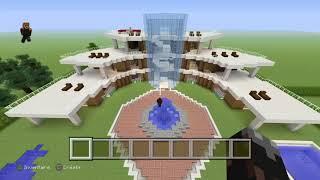Présentation de ma plus grande ville minecraft !!! PS4
