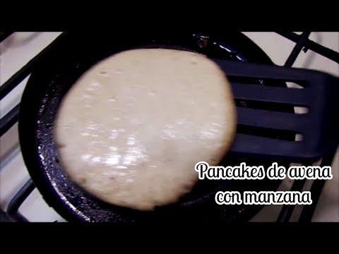 PANCAKES DE AVENA CON MANZANA/LAS RECETAS DE LUPITA