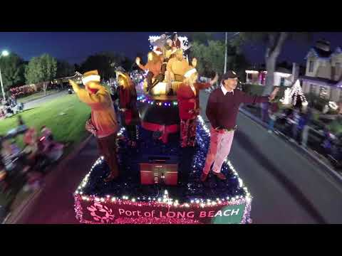 Port of Long Beach Daisy Lane Christmas Parade 2017 Time-Lapse Float