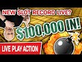 🔴 $100,000 Into VEGAS SLOTS LIVE! 📈 Will We SET A NEW RECORD at The Cosmo?