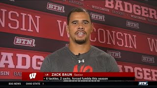 Zack Baun and the Badgers Get Ready for Michigan  Wisconsin  B1G Football
