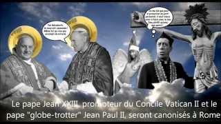 Caricatures en vrac 49 HD avec les papes Jean XXIII et Jean Paul II, etc.