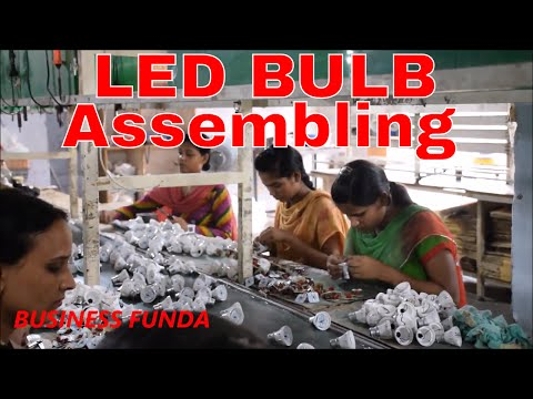 COMPLETE TECHNICAL KNOWLEDGE OF LED BULB ASSEMBLING IN HINDI