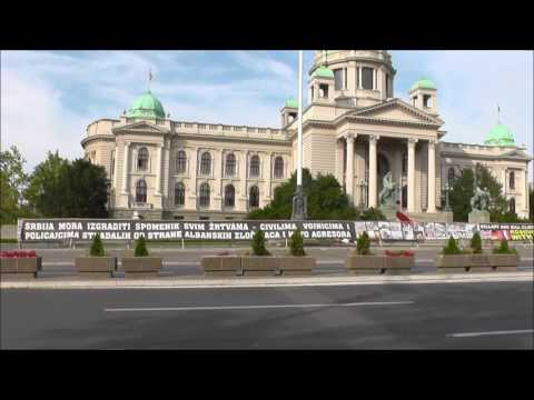 Walking from the House of the National Assembly to Nikola Pašić square