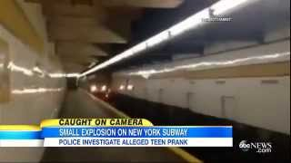 Subway Explosion Caught on Camera