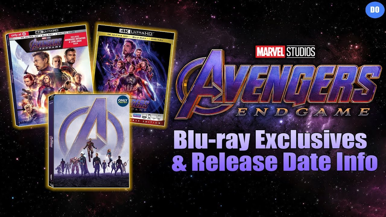 Avengers Endgame Blu Ray Retailer Exclusives Release