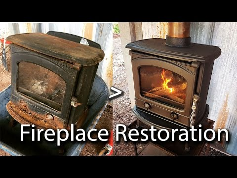 [Off Grid Build] Fixing up a rusted out cast iron wood stove