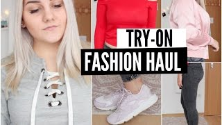 TRY ON FASHION HAUL 2016 - Nike, Zara, H&M, TomTailor, Only &'