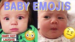 Funny Babies As Emojis | Hilarious Baby Reaction!