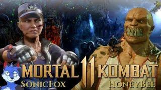 EXCLUSIVE MORTAL KOMBAT 11 FOOTAGE! Sonya vs Baraka Gameplay! SonicFox vs HoneyBee!