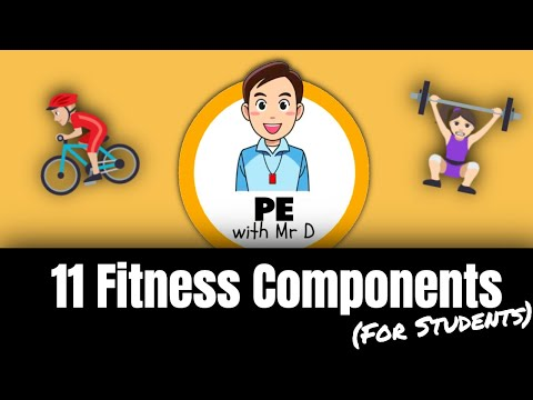 Learn the 11 Fitness Components! PE Buddy