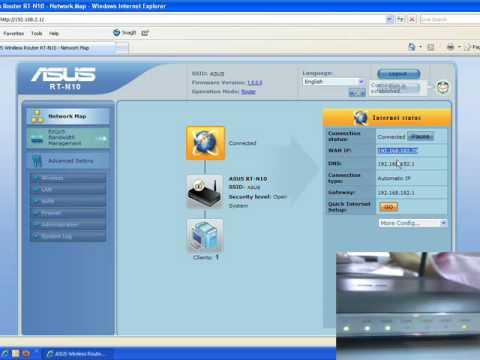 Asus rt-n10 wireless bridge router screenshot portforward. Com.
