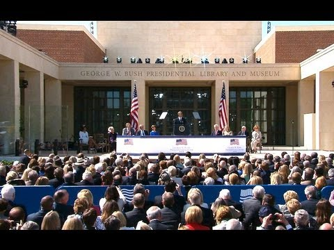 President Obama Speaks at the Dedication of the George W. Bush Presidential Library