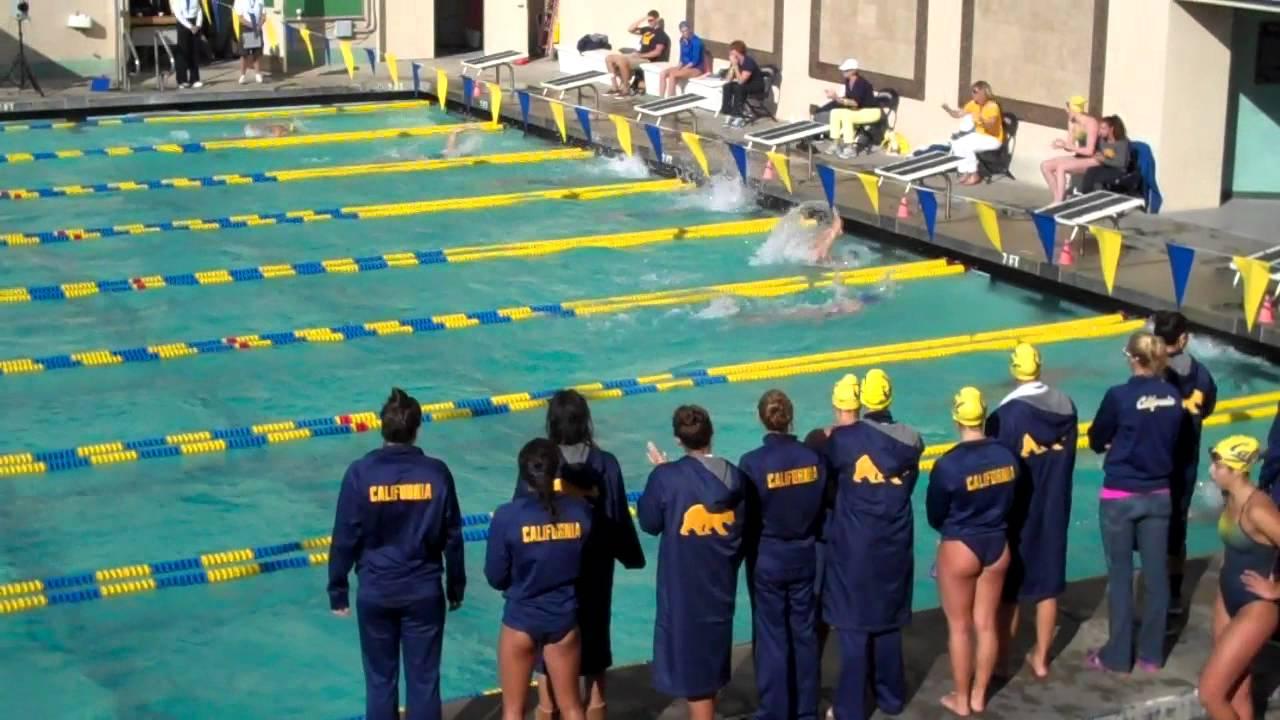 Cal Women 39 S Swimming Vs Florida 2013 14 100 Yard Backstroke Youtube