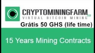 Mineradora CryptoMiningFarm - 50 GHS Grátis - Como funciona