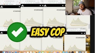 HOW TO COP EVERY ADIDAS YEEZY 4 RETAIL ONLINE *EASY TRICK*