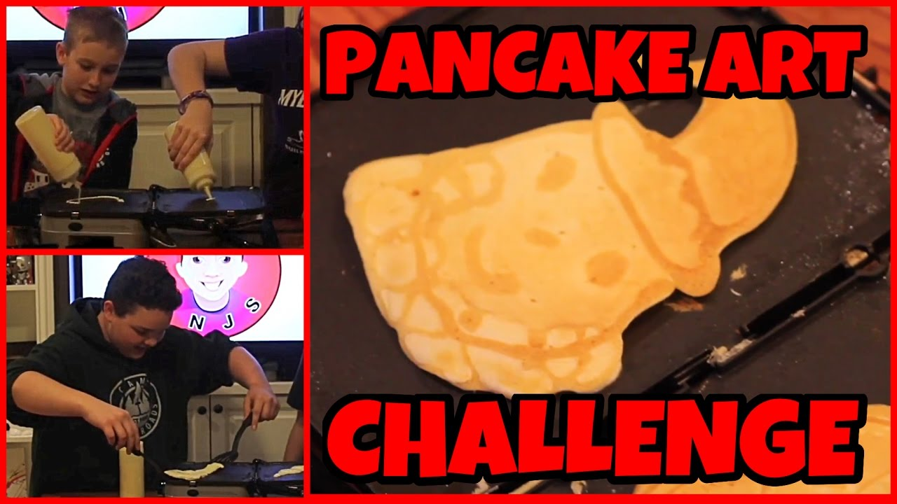 Pancake Art Challenge - YouTube