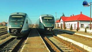 Trenul R4363 Train Carei-Tășnad-Zalău Nord-Jibou in Gara Sărmășag Station - 06 February 2018