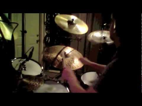 """Frank Perry tracking drums for """"Gone Too Far""""."""