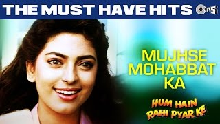 Watch #aamirkhan & #juhichawla in this superhit hindi song 'mujhse mohabbat ka' from the movie 'hum hain rahin pyaar ke'. sung by kumar alka sanu yagn...