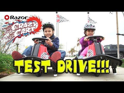 Razor CRAZY CART Extreme Test Drive!!! NEW & IMPROVED!