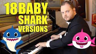 Baby Shark in 18 Styles