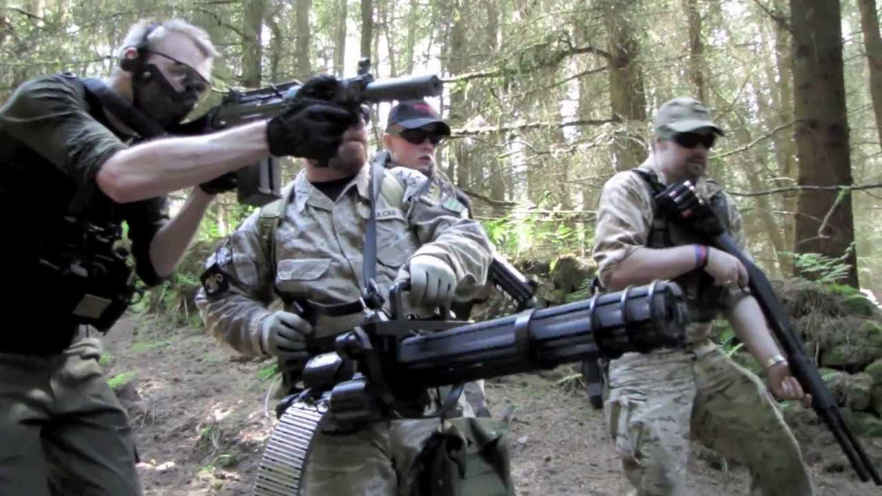 M134 Minigun Section8 Airsoft War Scotland Hd Youtube