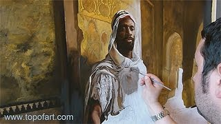 Art Reproduction (Charlemont - The Moorish Chief) Hand-Painted Step by Step