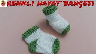 Tığ İşi Bebek Çorap / Patik Modeli ( 1 2 Yaş ) Anlatımlı Yapılışı Örgü Dantel Oya El İşi