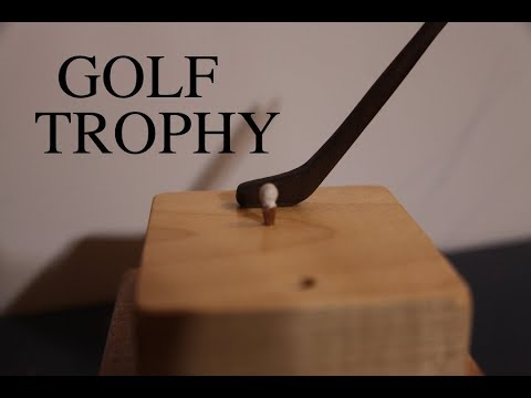 HOW TO MAKE A GOLF TROPHY\MODEL!