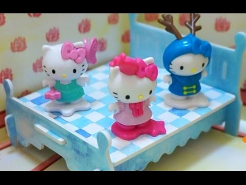 Hello Kitty Jumping on the Bed  Nursery Rhyme Song  music  children