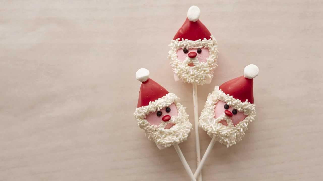 make marshmallow santa christmas treats youtube