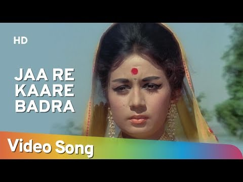 Jaa Re Kaare Badra (HD) | Dharti Kahe Pukarke Songs | Sanjeev Kumar | Nanda | Lata Mangeshkar