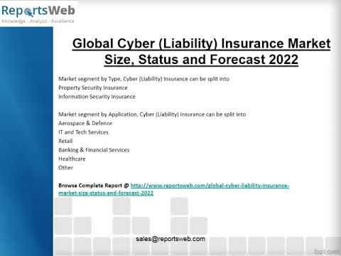 Cyber Liability Insurance Market 2017 Key Manufacturers Analysis