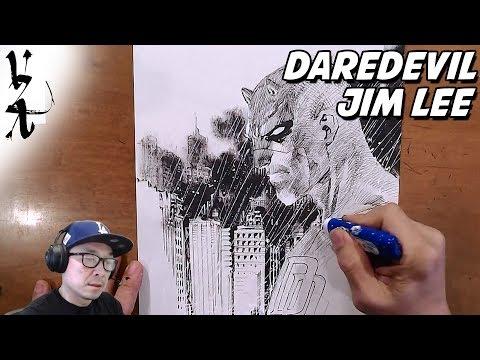Jim Lee drawing Daredevil