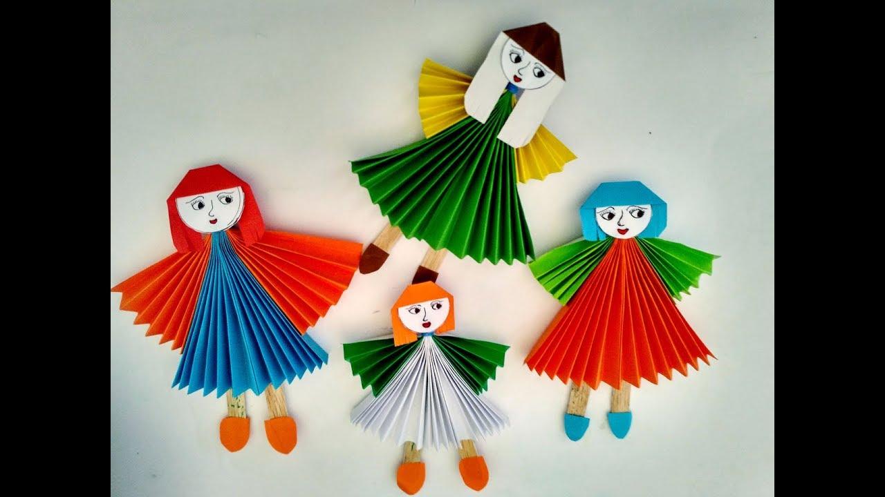 Cara membuat boneka kertas cantik imut - YouTube