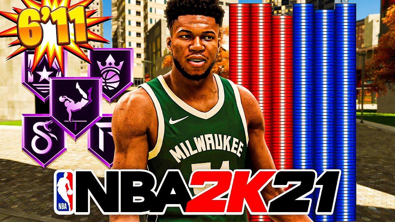 NEW 6'11 SPEEDBOOSTING GIANNIS ANTETOKOUNMPO BUILD in NBA 2K21