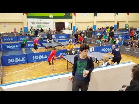 bursa veteran masa tenisi turnuvası yarı final Mehmet Yılık Ahmet Yusuf Ark