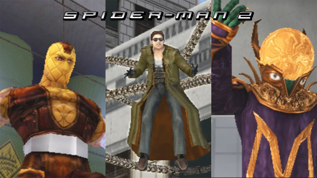 spider man 2 (2004) all boss fights - youtube